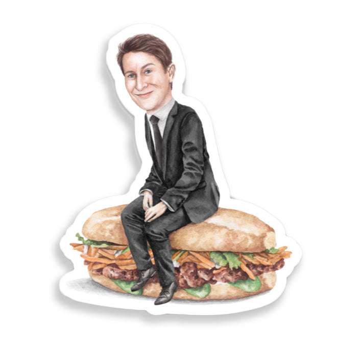 Celebs on Sandwiches: Scott Aukerman Sticker