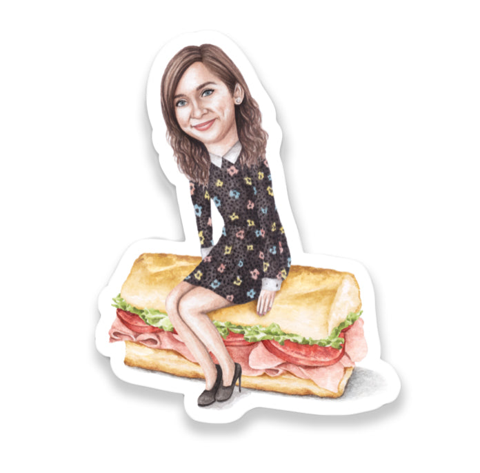 Celebs on Sandwiches: Lauren Lapkus Sticker