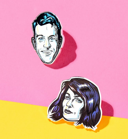 Do You Need a Ride: Chris and Karen Enamel Pin Set