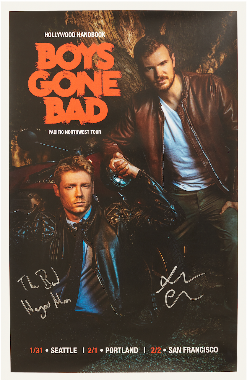 SIGNED Hollywood Handbook: Boys Gone Bad Tour Poster