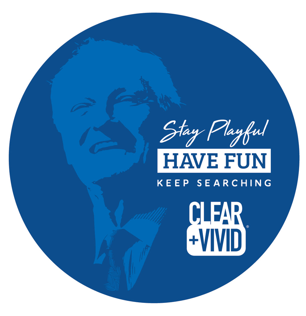 Clear + Vivid: Laptop Sticker