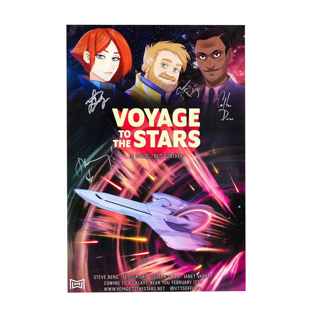 LIMITED SIGNED Voyage To The Stars Poster