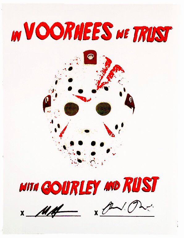 SIGNED In Voorhees We Trust Poster