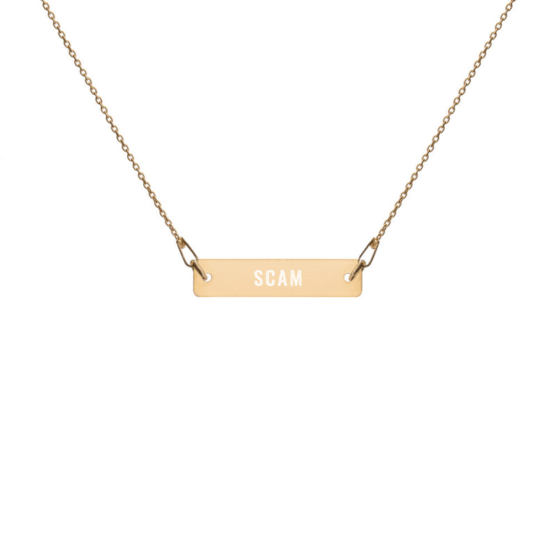 Scam Goddess: Scam Bar Chain Necklace