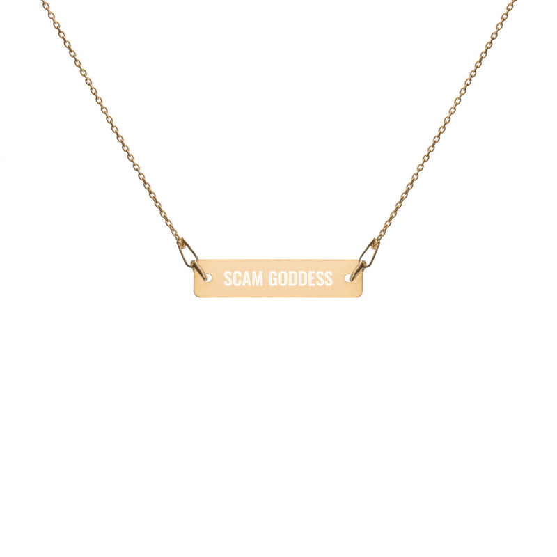 Scam Goddess: Title Bar Chain Necklace