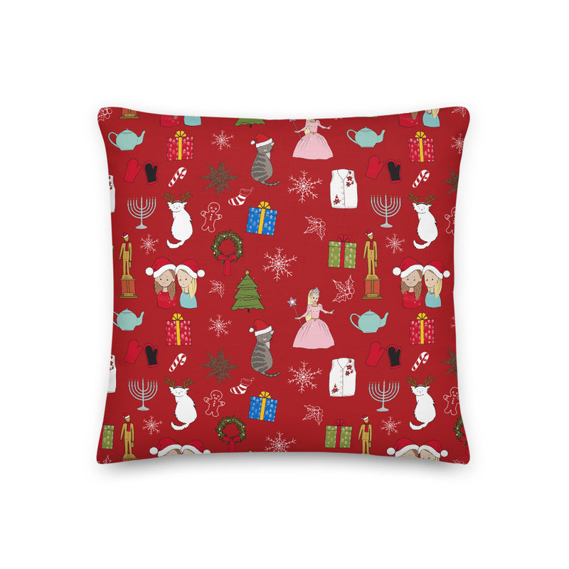 Office Ladies: Holiday Pillow