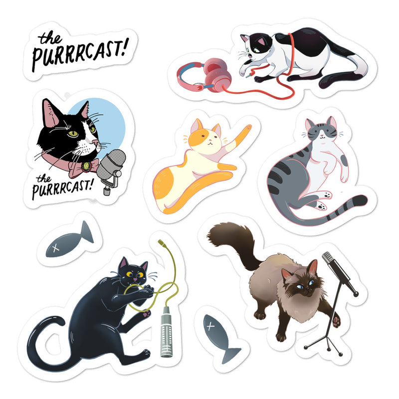 The Purrrcast: Sticker Sheet