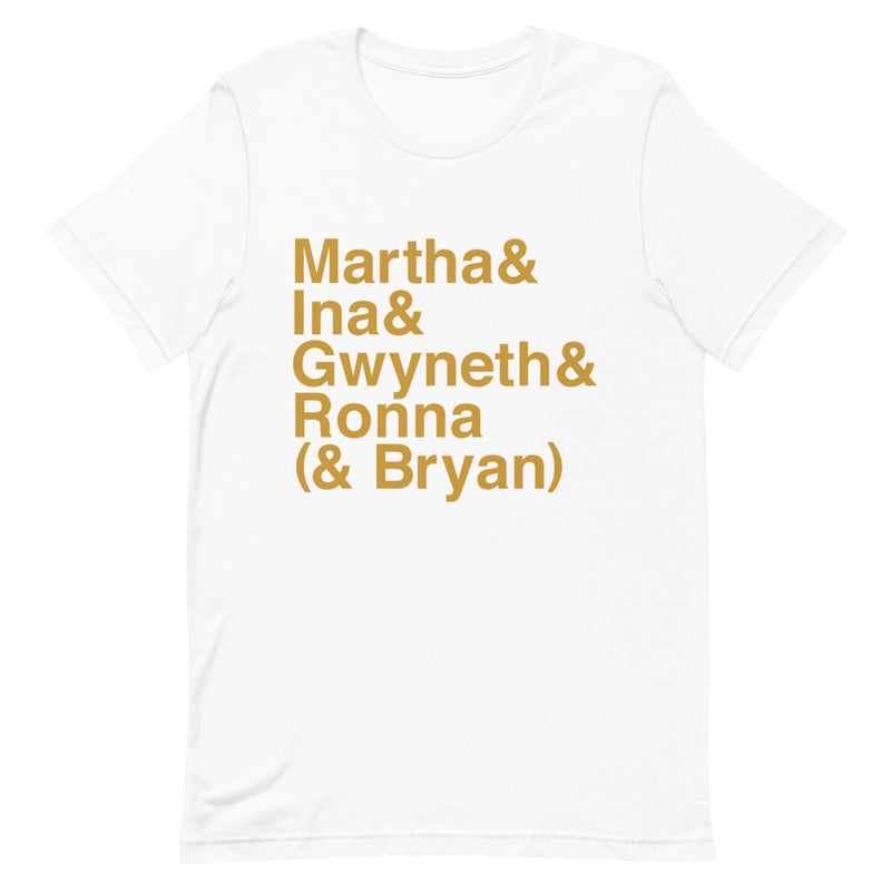 Ask Ronna: Icons T-shirt (Gold)