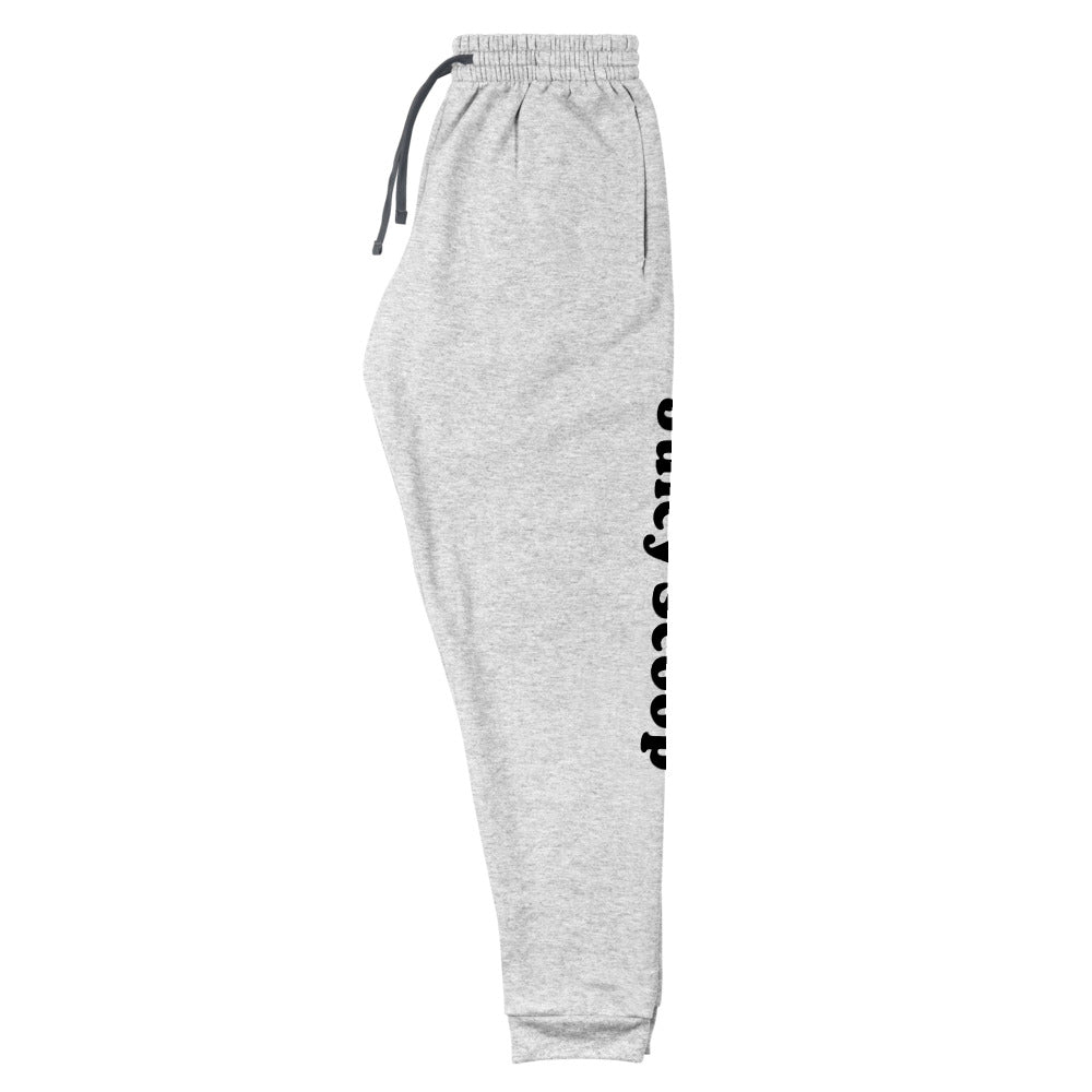 Juicy Scoop: Grey Logo Unisex Joggers