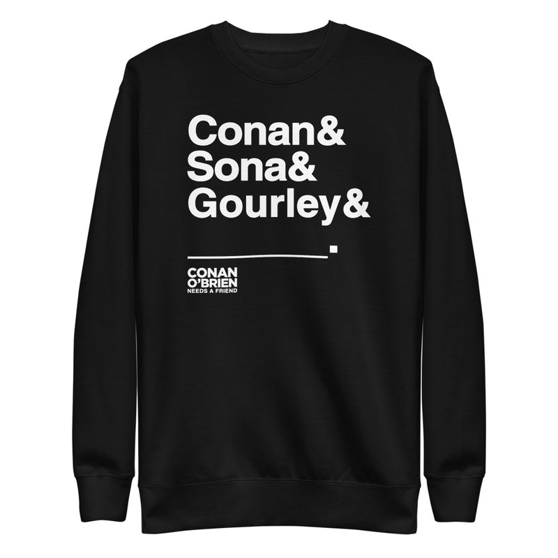 Conan O'Brien Needs A Friend: & Blank Sweatshirt (Black)