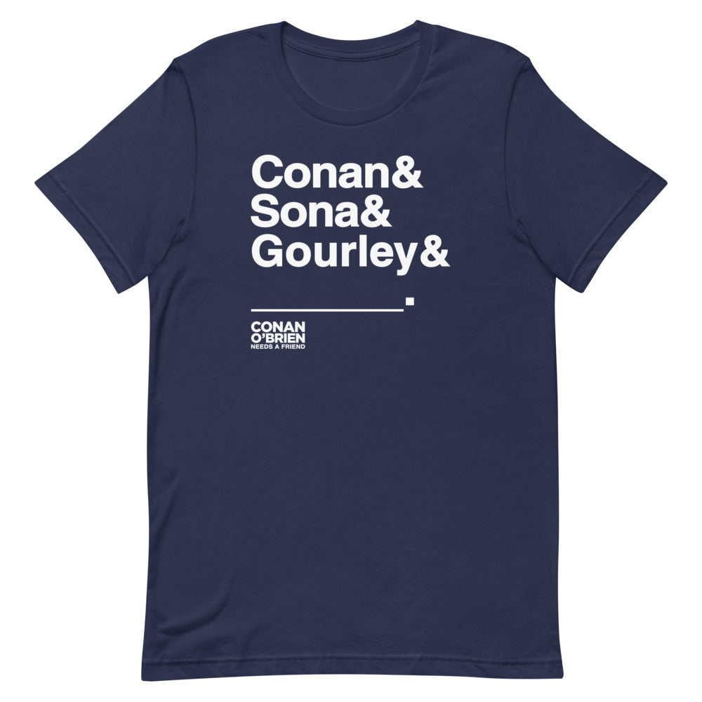 Conan O'Brien Needs A Friend: & Blank T-Shirt (Black/Navy)