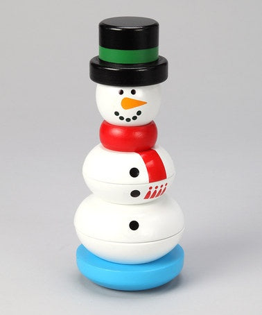 NEW Melissa and Doug Wooden Stackable Snowman For Babies and Toddlers