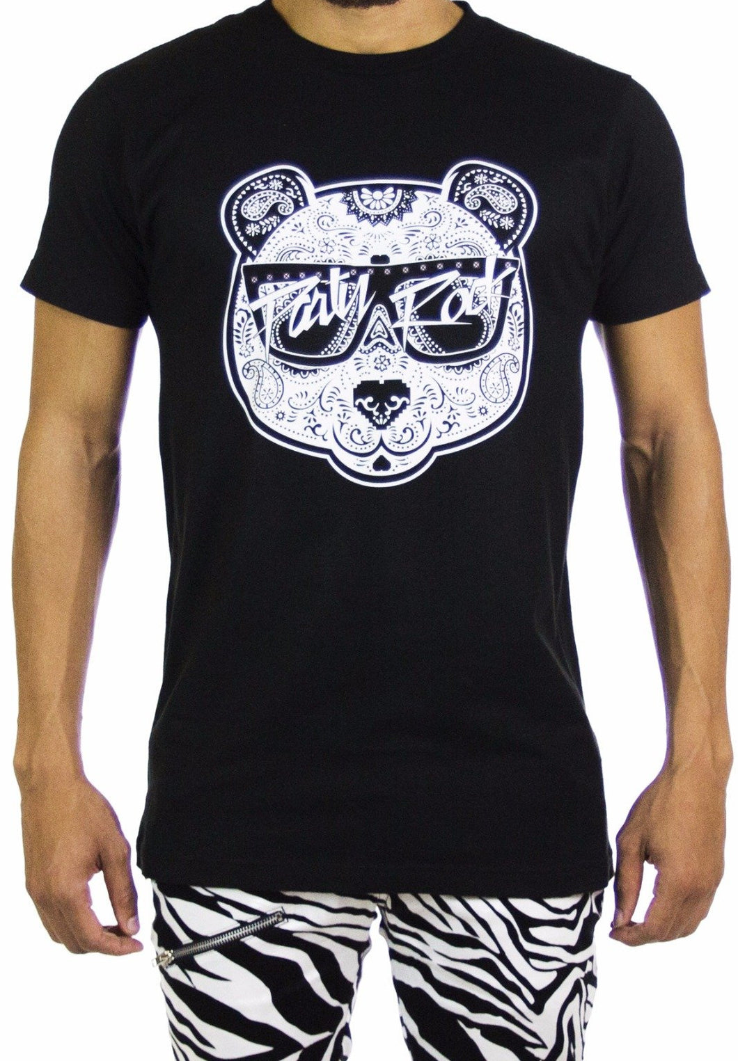 Black & White Panda Tee (Limited Edition) - Party Rock Clothing REDFOO LMFAO