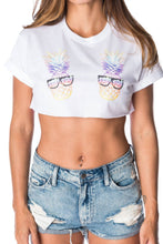 Pineapple Crop Top - Party Rock Clothing REDFOO LMFAO
