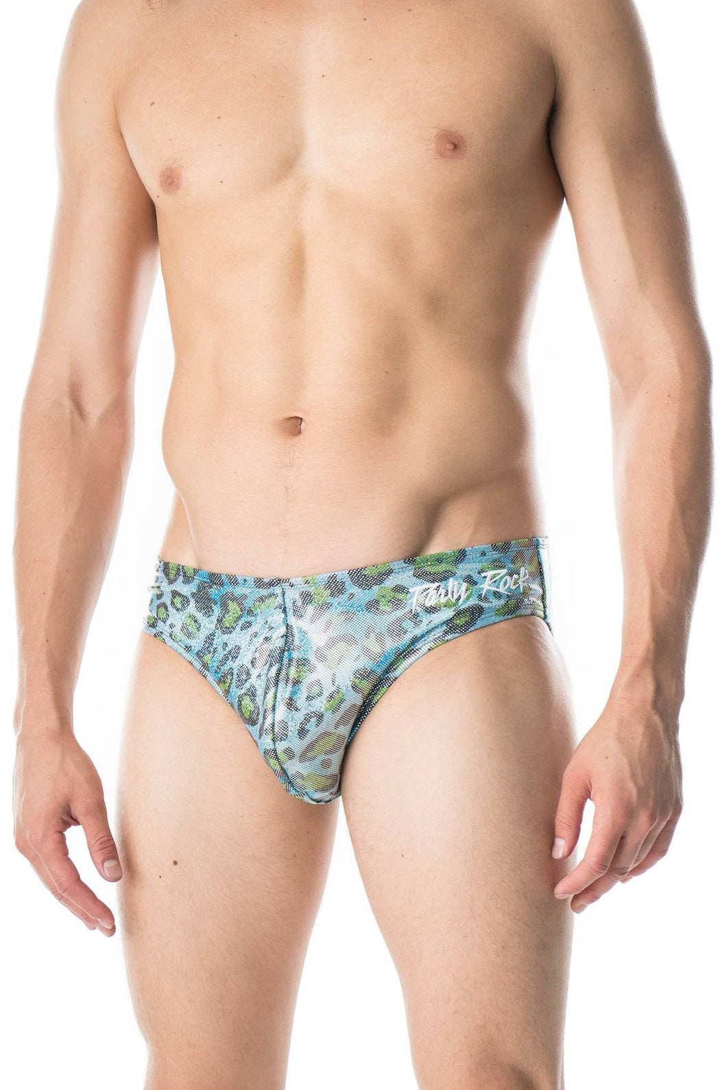 Men's Cheetah Swim Brief - Party Rock Clothing REDFOO LMFAO