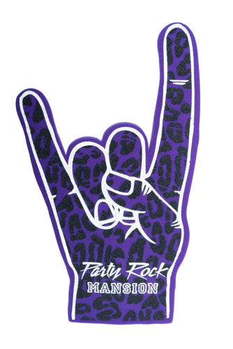 Party Rock Mansion Foam Fingers - Party Rock Clothing REDFOO LMFAO