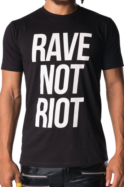 Rave Not Riot Tee - Party Rock Clothing