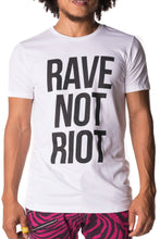 Rave Not Riot Tee - Party Rock Clothing REDFOO LMFAO
