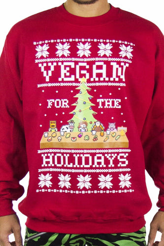 Vegan Supper Ugly Christmas Sweater - Party Rock Clothing REDFOO LMFAO