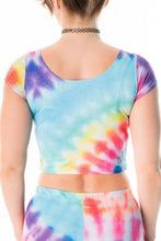 Tie Dye Crop Top - Party Rock Clothing REDFOO LMFAO