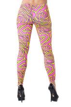 Women's Electric Zebra Leggings - Party Rock Clothing REDFOO LMFAO