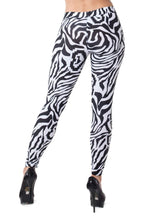 Women's Zebra Leggings - Party Rock Clothing REDFOO LMFAO