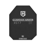 IN STOCK READY TO SHIP  ONLY 3 PLATES LEFT OF THE 4S17 10X12 SHOOTER CUT ORDER NOW! Guardian 4s17  Rifle Armor, Level IV Stand Alone