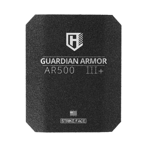 I HAVE 6 IN STOCK & READY TO SHIP 10X12 FULL CUT Guardian AR500 Rhino eXtreme spall coated  Rifle Armor, Level III+ Stand Alone