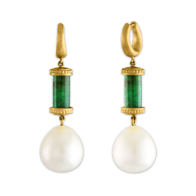 Laurel Tropaion Emerald Earrings