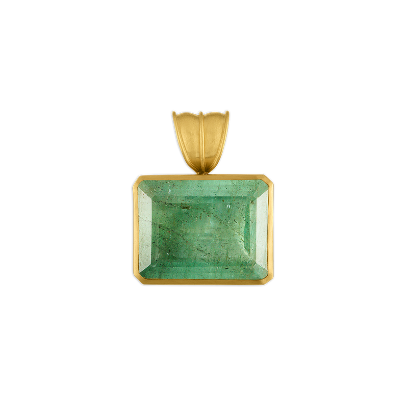 Green Beryl Block Pendant