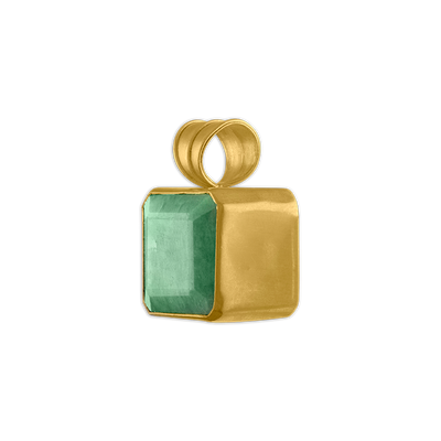 Opaque Emerald Block Pendant