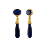 Lapis Granulated Amphora Earrings