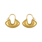 Small Boat Shaped Hoop Earrings