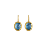 Aquamarine Granulated Hook Earrings