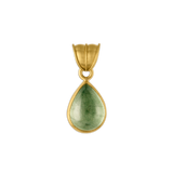 Green Aquamarine Tear Pendant