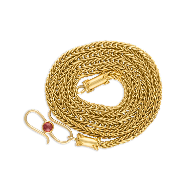 Handwoven Duo Loop-in-Loop Chain