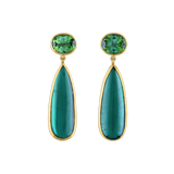 Green Tourmaline Amphora Earrings
