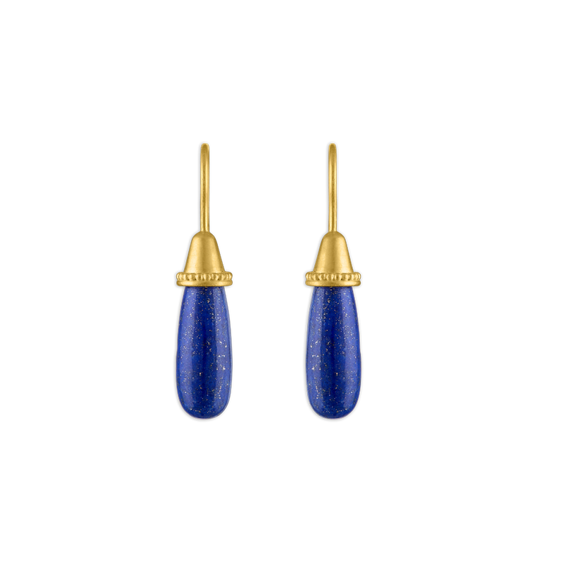 Lapis Pileus Earrings