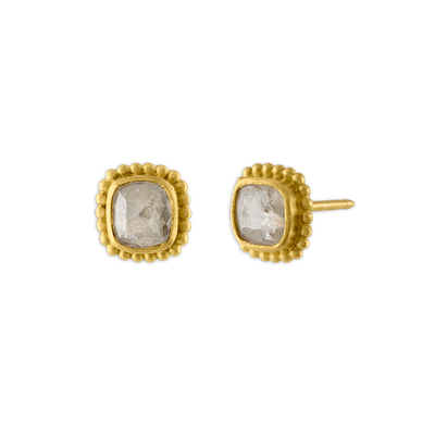 Granulated Diamond Stud Earrings