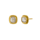 Diamond Granulated Stud Earrings