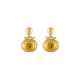 Small Yellow Tourmaline Bell Earrings