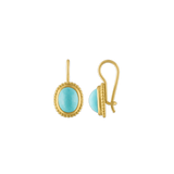 Turquoise Granulated Hook Earrings