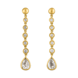 Five Diamond Chime Earrings with Diamond Drop