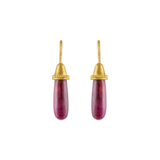 Opaque Ruby Pileus Earrings