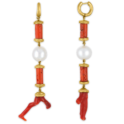 Laurel Tropaion Long Earrings