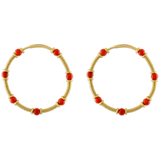 Antique Coral Zeno Hoop Earrings