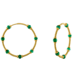 Emerald Zeno Hoop Earrings