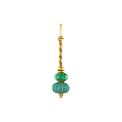 Duo Emerald Linea Earrings