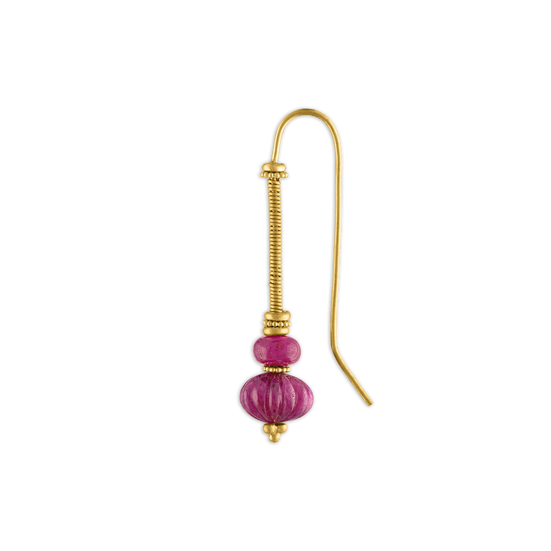 Duo Ruby Linea Earring