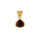 Small Claret Tourmaline Fan Pendant